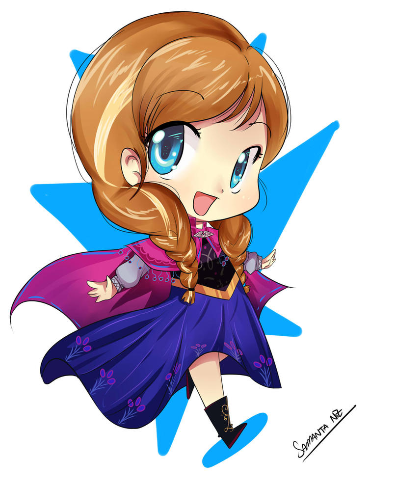 K Anime Characters Anna : Anna frozen chibi by keitenstudio on deviantart
