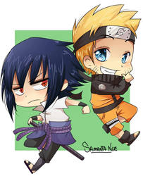 Naruto and sasuke by keitenstudio