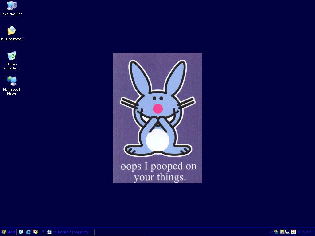 Happy bunny desktop v1.5 by moggie