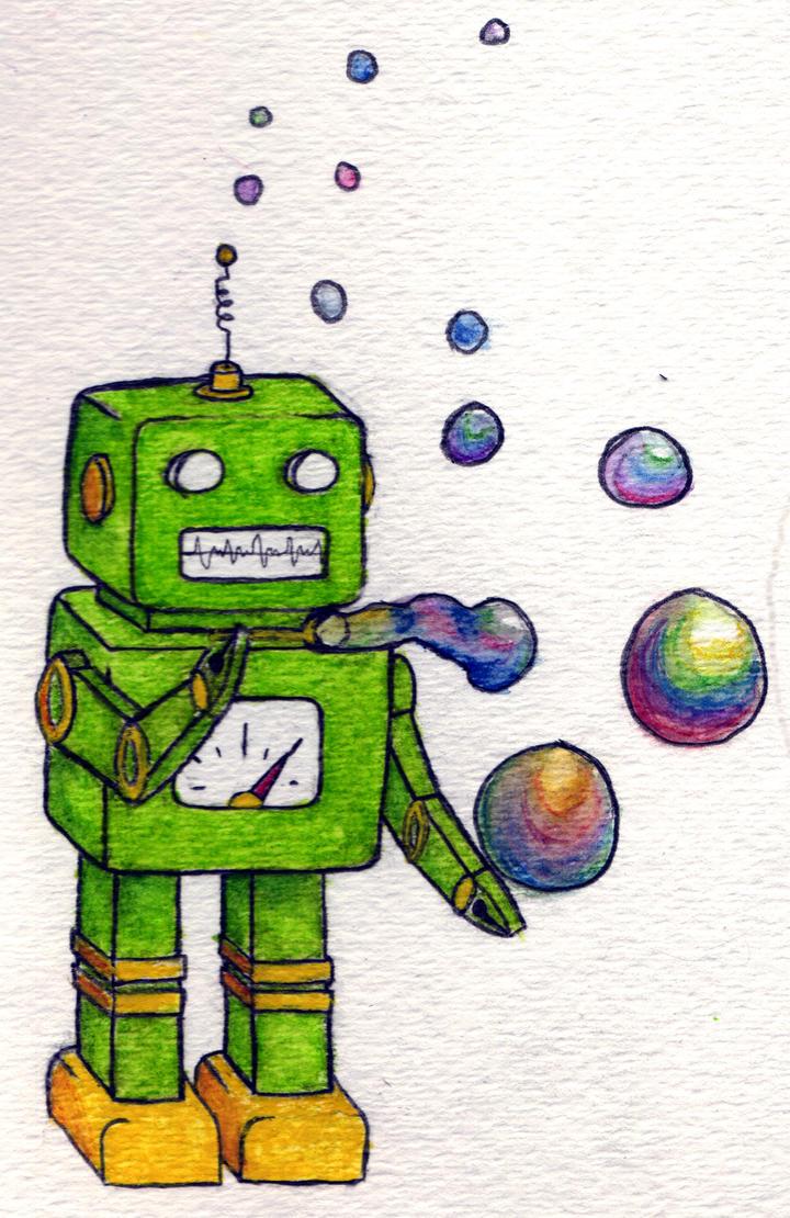 Bubble Bot by moggie