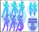 Multi-species female reference sheet pack