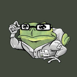 Science Frog by VoidBurger