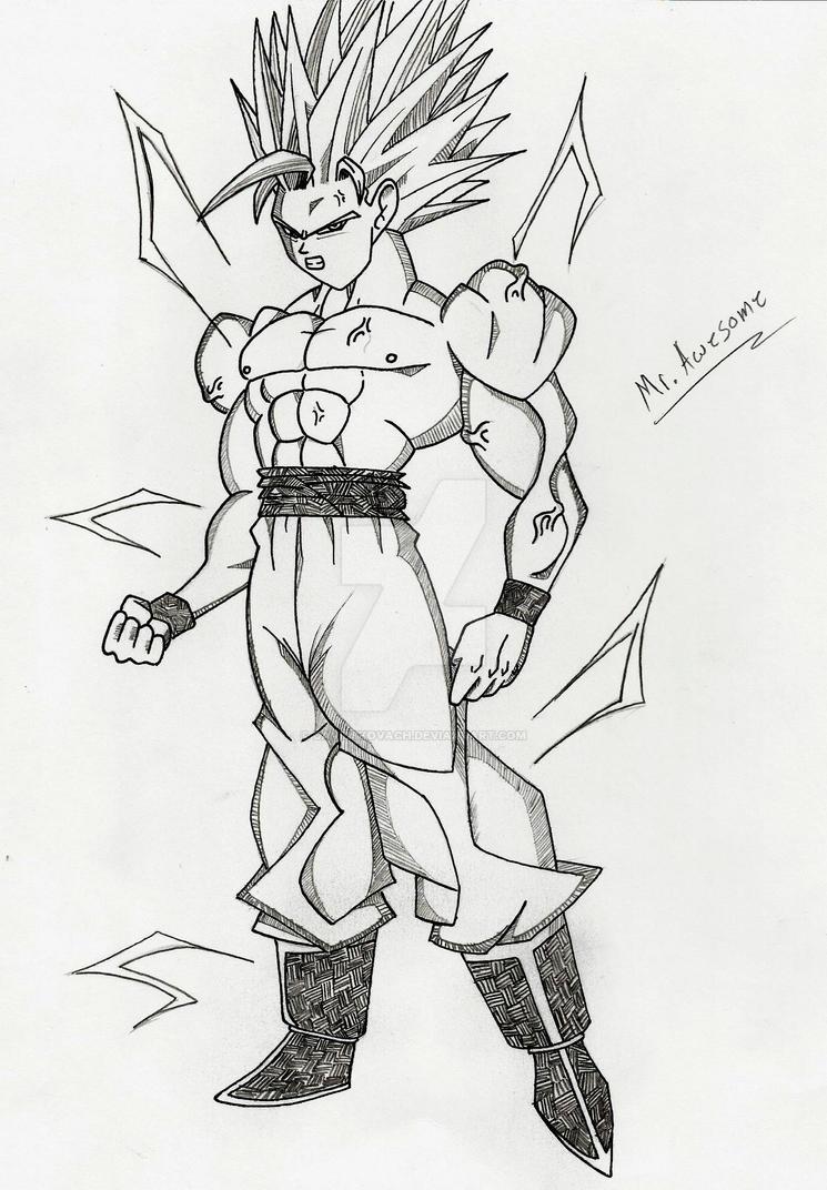 Goku Ascended Super Saiyan 2 manga style by DavidsKovach on DeviantArt
