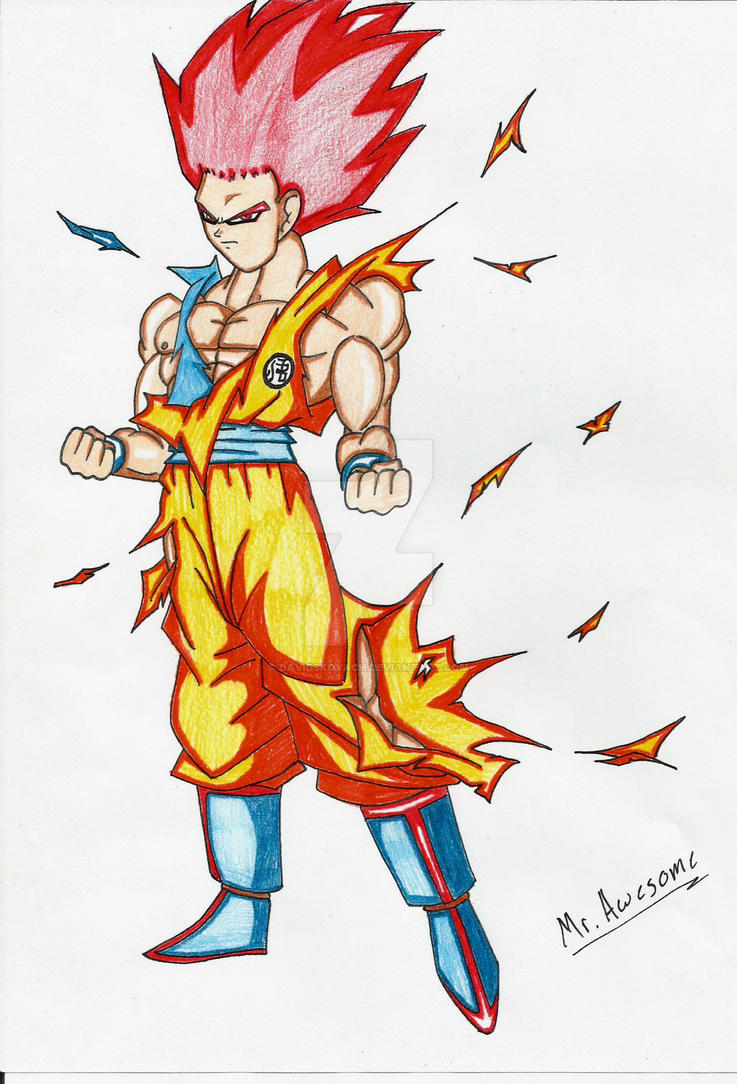Goku Super Saiyan God V2 by DavidsKovach