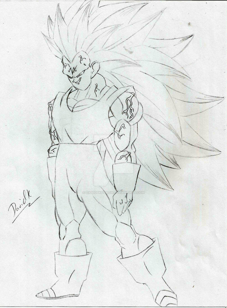 Majin Vegeta Super Saiyan 3 By Davidskovach On Deviantart