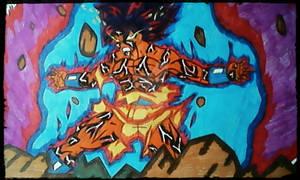 Goku SSJBlue kaioken x100