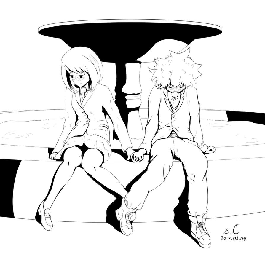 Izuku x Ochako [Boku no Hero Academia] by s-Claw