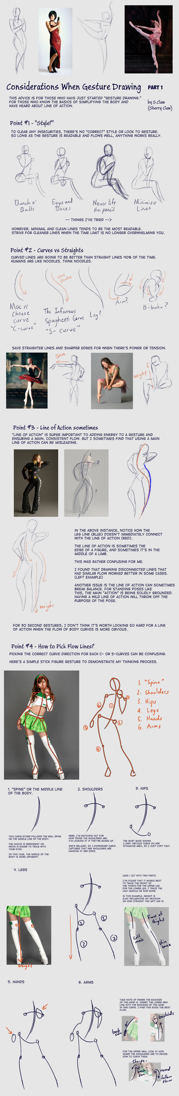 Considerations when Gesture Drawing - Part 1 by s-Claw