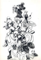Kingdom Hearts 2 Group Photo 1 by HeartlessXen