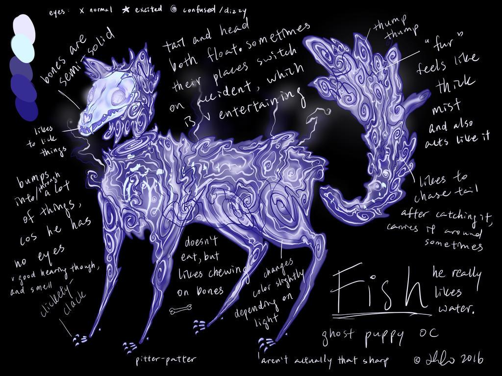 Ghost Doggy OC by fireindigo