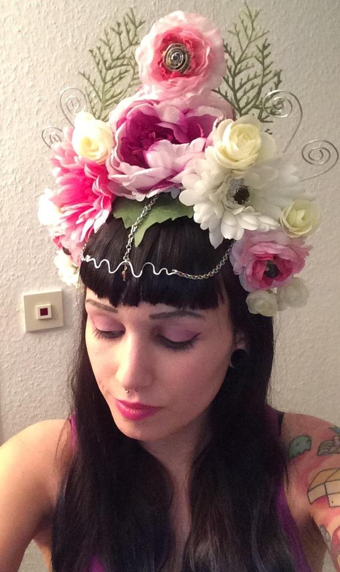 Pink Flower Crown For Sale By Misskywalker On Deviantart