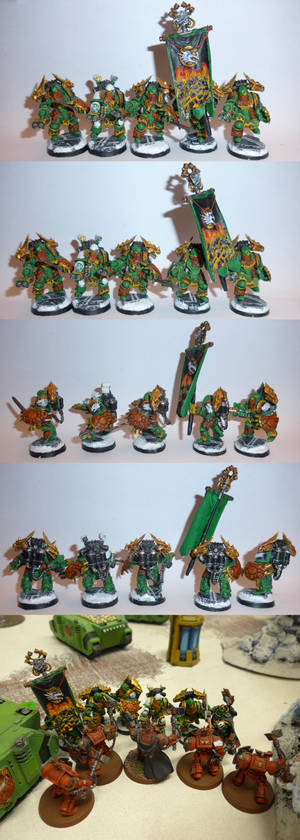 Salamanders He'stans command Squad