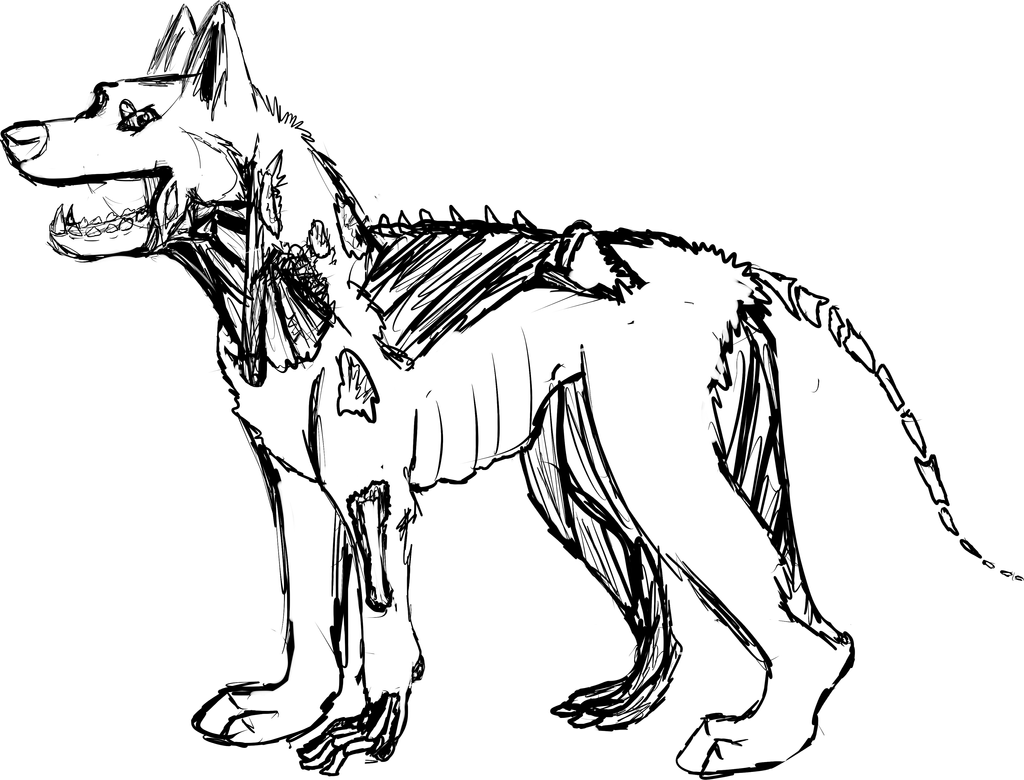 zombie german shepherd auction wip open by potatoesarepeopletoo on ... - Black Ops Zombies Coloring Pages