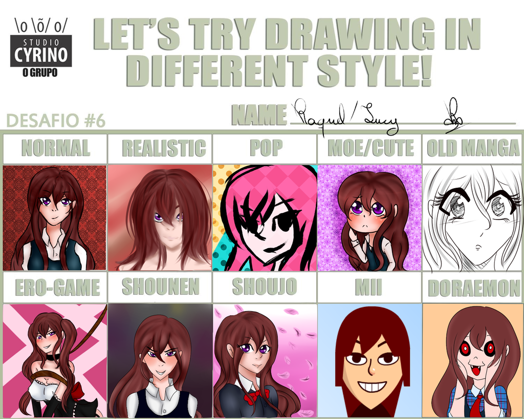 Lets Try Drawing In Different Style By Sailor Sheep