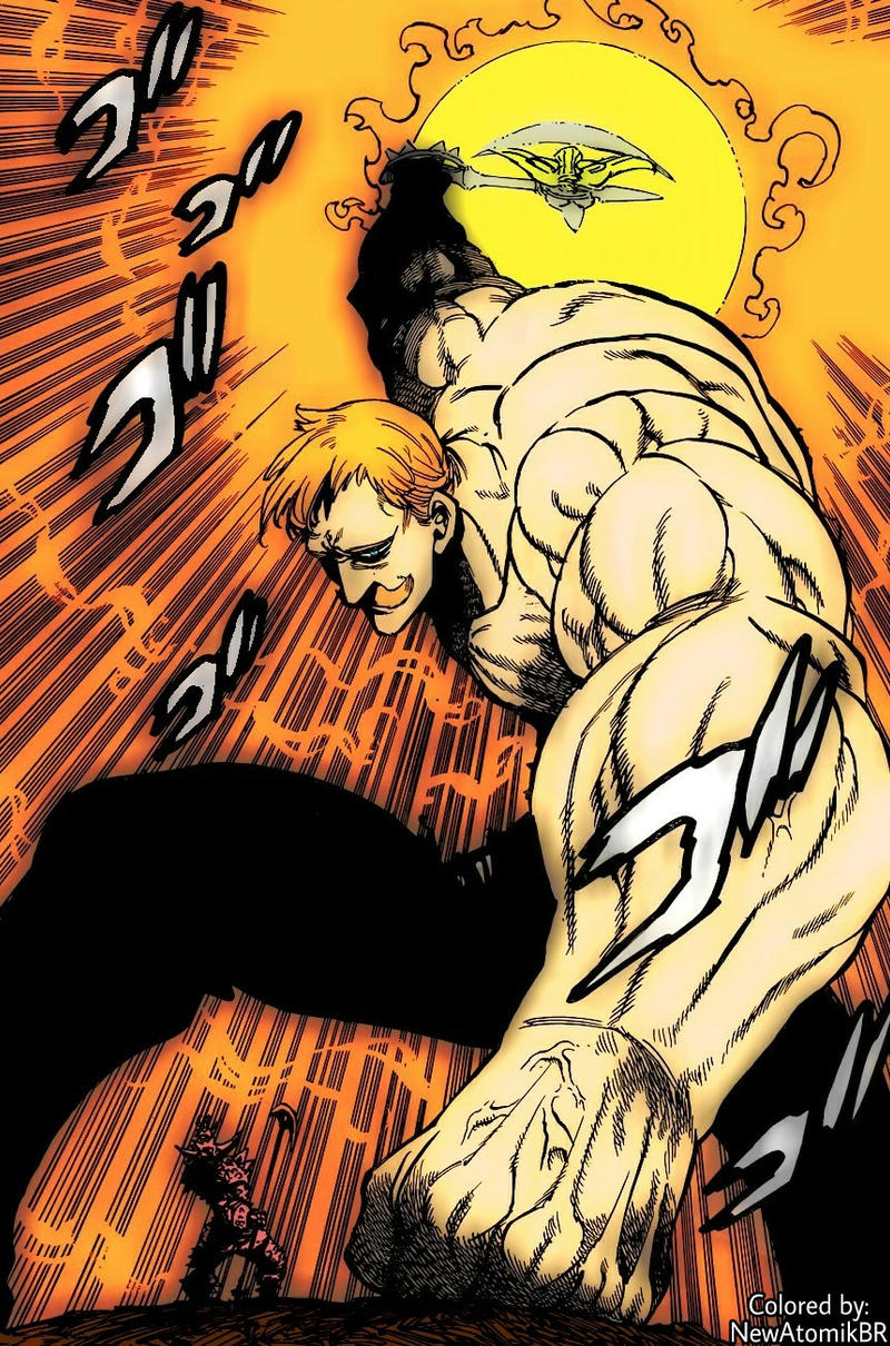 Escanor Vs Galand Scene With Color By Newatomikbr On Deviantart