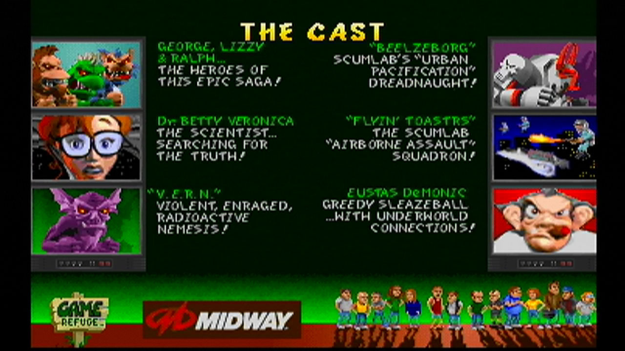 Rampage World Tour Idle Screen 2 The Cast By Dartharchanist On