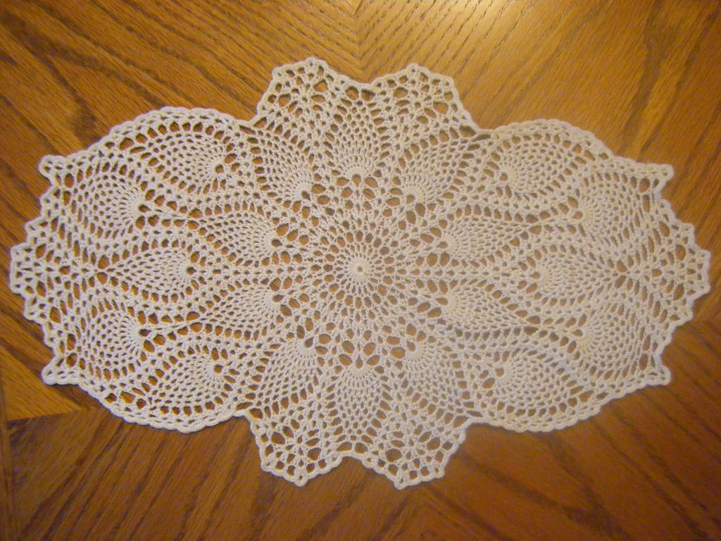 Oval Pineapple Doily by koepr5333 on DeviantArt