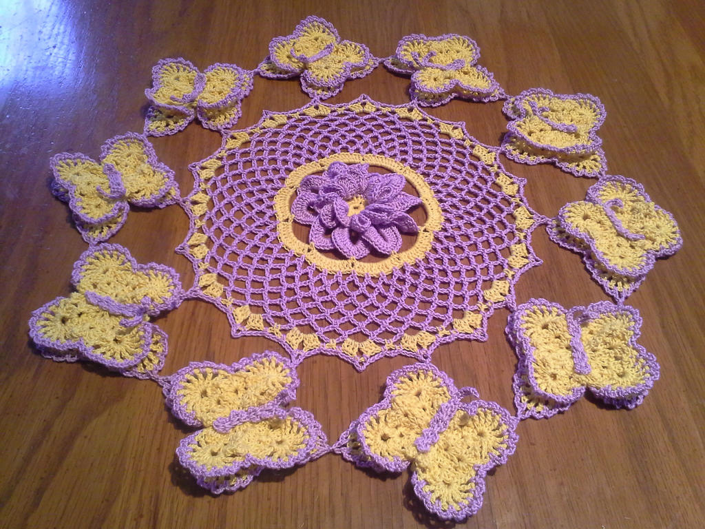 Butterfly Garden Doily by koepr5333