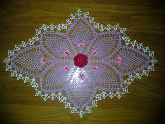 Butterfly Pineapple Doily by koepr5333
