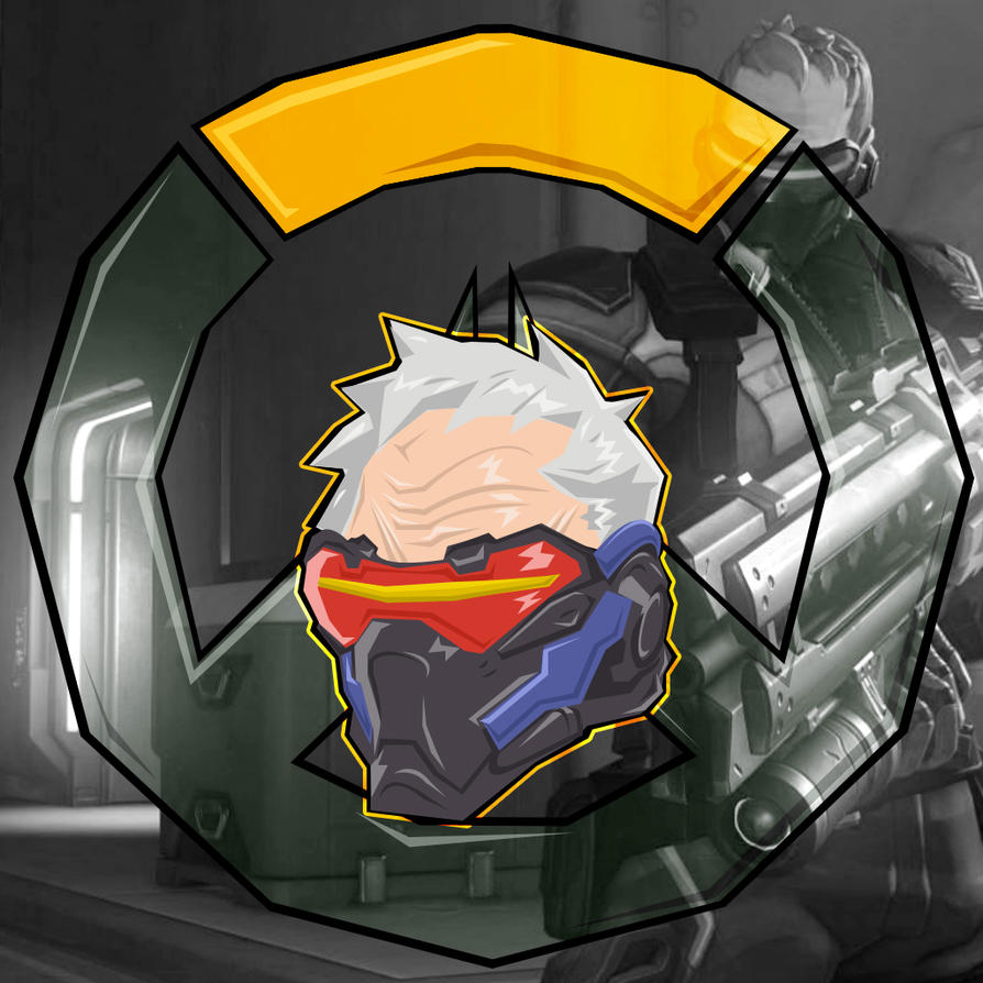Soldier 76 Trading Card by demondeathx