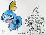 Sobble with Halloween Form