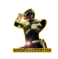 Black Lives Matter - Dragon Shield Black Ranger by Allenolantern