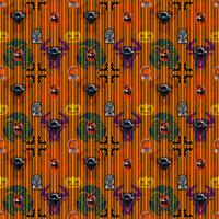 Kyu-Ween Tileable Pattern by Allenolantern