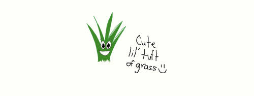 Cute Tuft of Grass by graceofbass