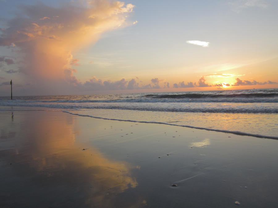 Tybee Island Sunrise Reflection by graceofbass