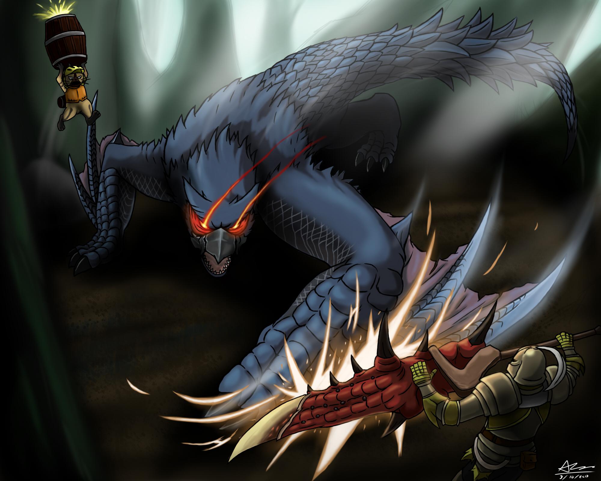 Monster Hunter Nargacuga by alextrinidad on DeviantArt Tab Hunter Today