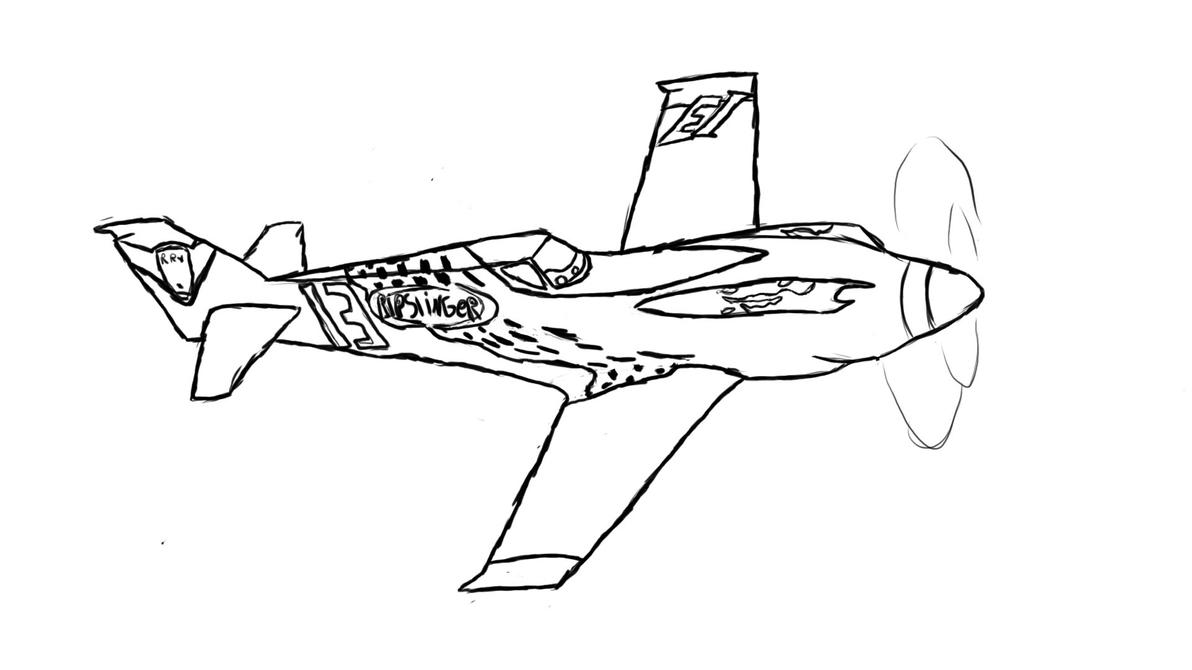Disney Planes Ripslinger Coloring Pages