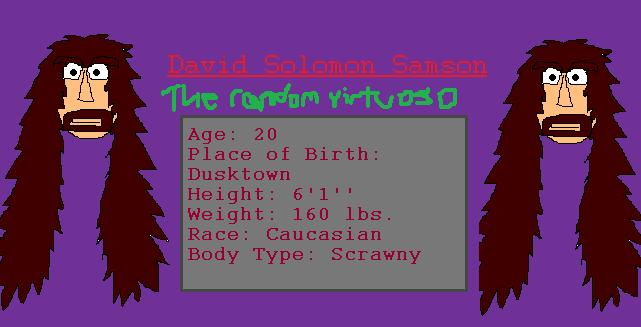 David Solomon Reference Sheet by TheSkull31