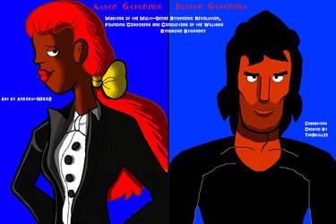 Karen and Darren Geronimo (Ankoku-Neko2 version) by TheSkull31