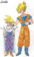 Goku and Gohan SSJ