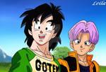 Teen Goten and Trunks