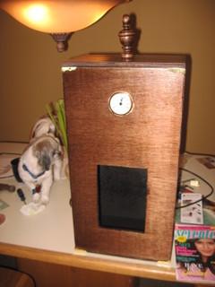 Steampunk- Clockbox Front View by LimeyCricket