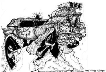 death car gogogo by DEADMONKEY