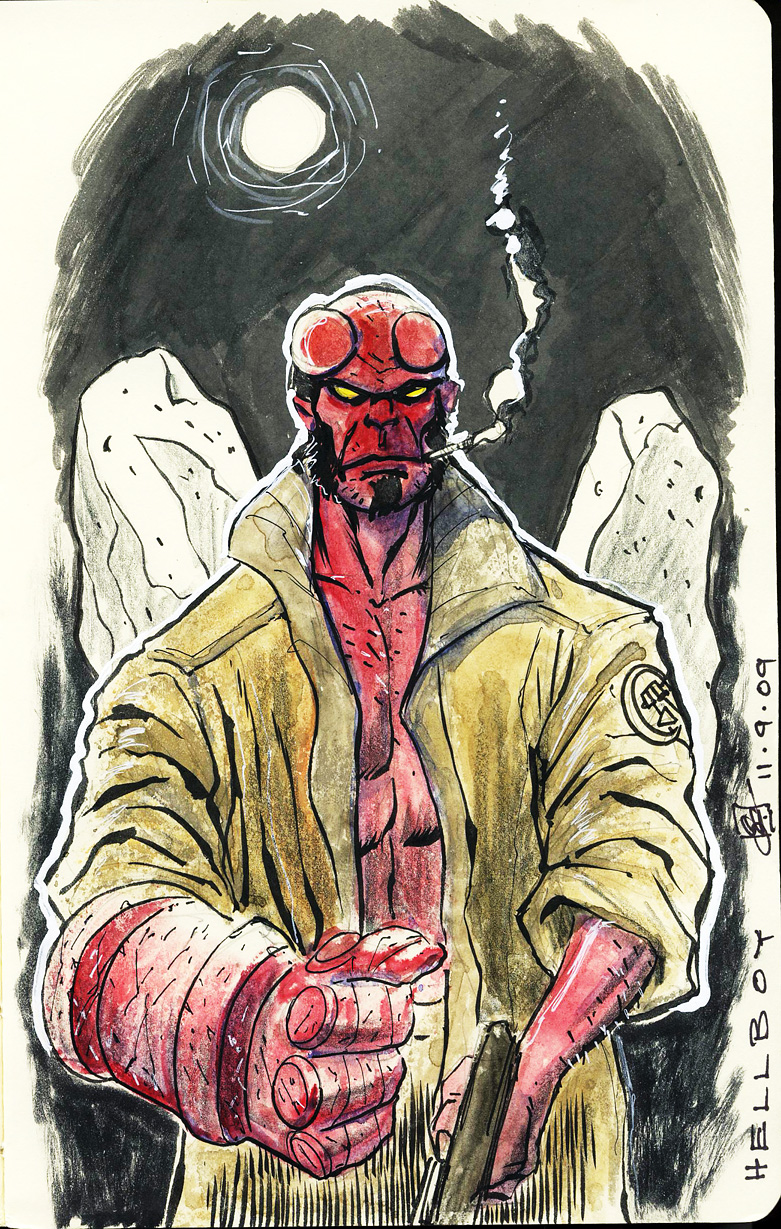 Hellboy Redux by SheldonGoh