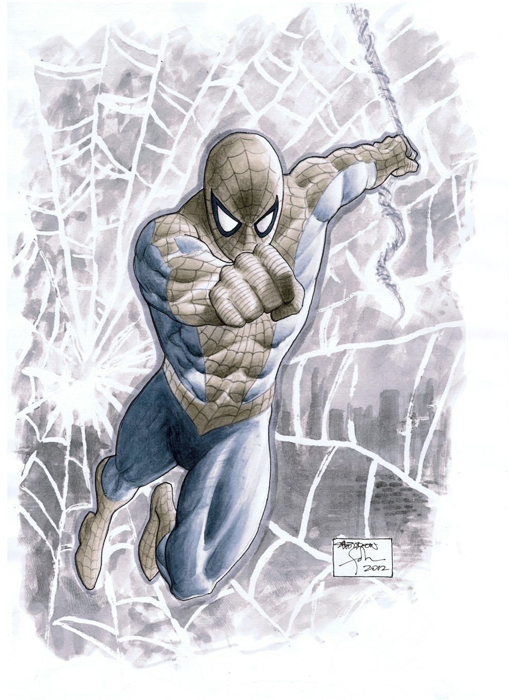 Spidey Sketch For A Friend by SheldonGoh