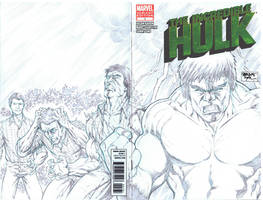 70's TV Hulk Sketch Cover Commission by SheldonGoh