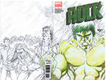70's TV Hulk Sketch Cover - with a bit of green