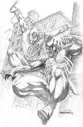 Scarlet Spider vs Venom (Commission) by SheldonGoh