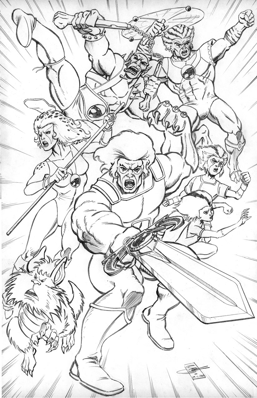 thunder cats coloring book pages dudeindisneycom robert