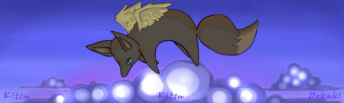 Winged Kitsune by SunGreen777
