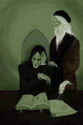 Snape and Dumbledore by Observateur