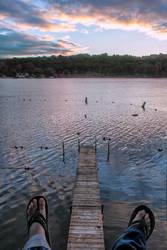 Lake Dock + Feet, MI by jdblanco17