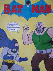 SILVER AGE BATMAN VS BANE by seanwaterfield