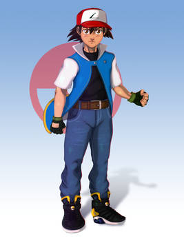 Ash Ketchum - Pokemon Character Art