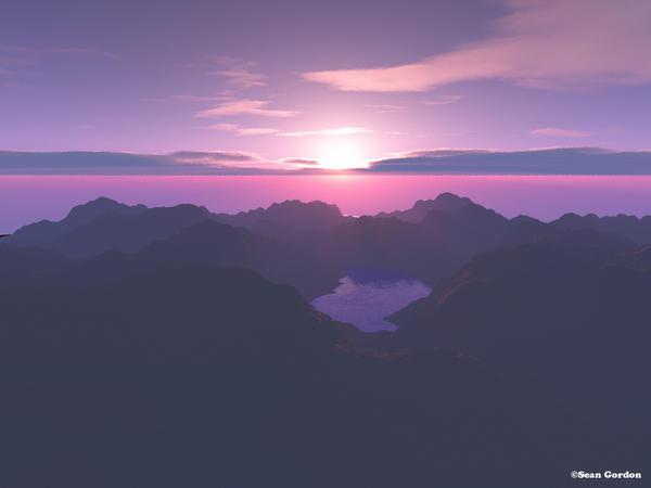 Island Sunset by InvertedOblivion