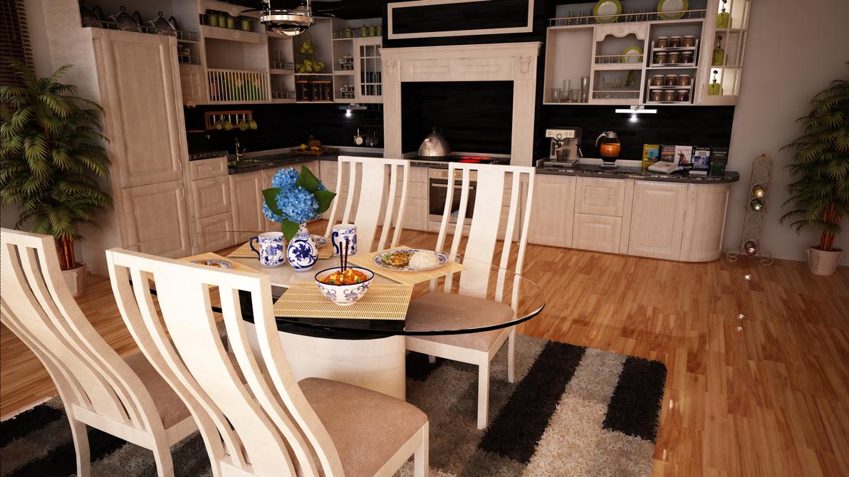 Interior Housing: Kitchen by lordbunty